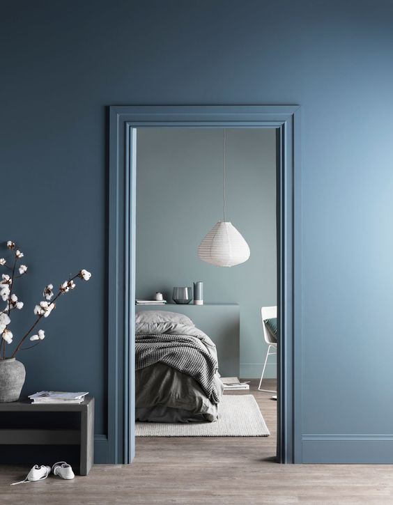 chambre bleue sweety square