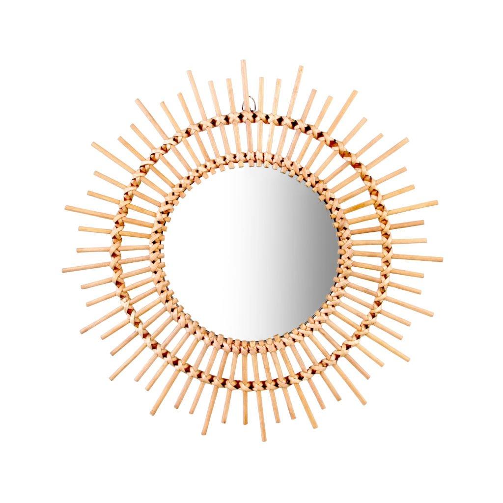 miroir mural soleil bambou -selection
