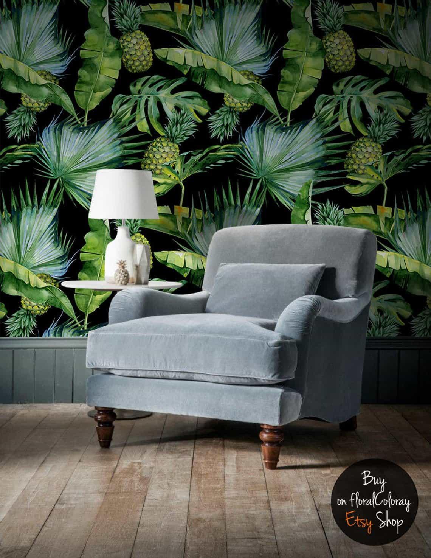 papier peint adhésif jungle