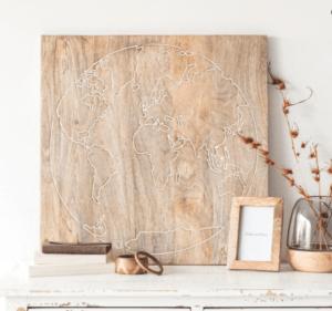 déco murale en bois - déco nature