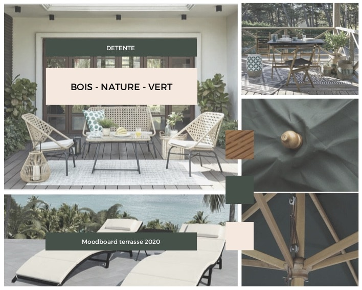comment aménager sa terrasse: définir son moodboard