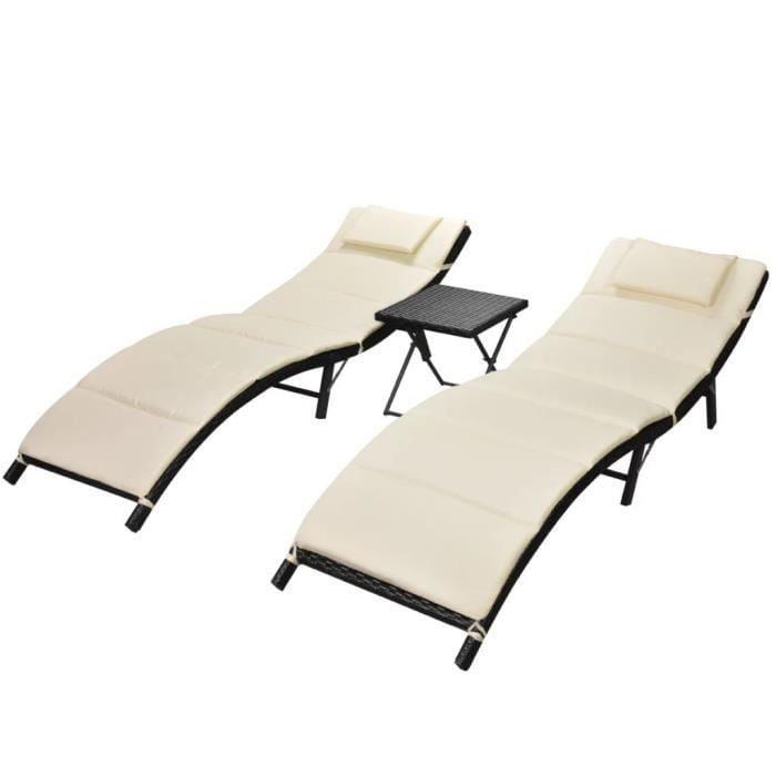 chaises longues pliables pratique pour aménager un coin chill